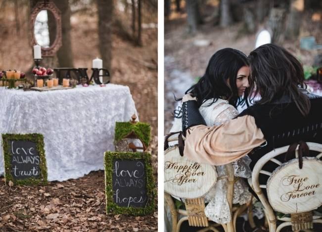 Snow White & The Huntsman Styled Wedding Shoot 12