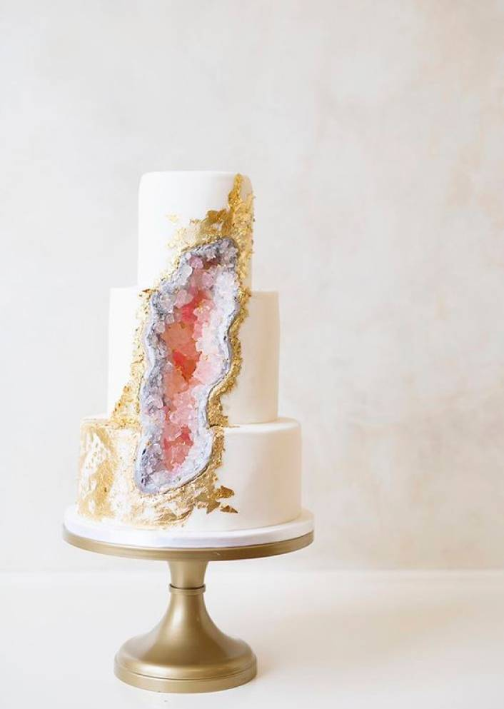 Interested In The Behind Scenes Of How A Geode Cake Is Made Check Out This Tutorial From Craftsy