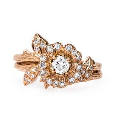 12 Floral-Inspired Engagement Rings