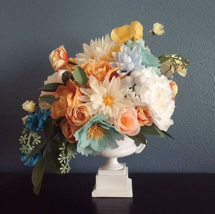 Paper Flower Arrangement Ideas: 11 Ways To Use Paper Flowers In Your Wedding