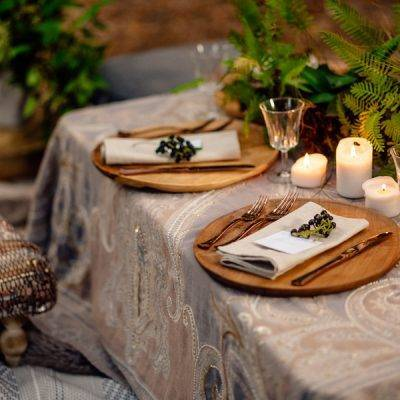 Two Setups For A Woodsy Bohemian Wedding
