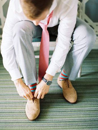 Image result for groom + colorful socks
