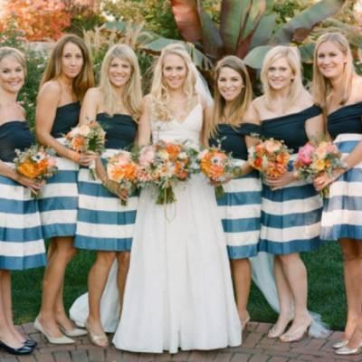 Stylish Striped Bridesmaid Dresses — Trending Now