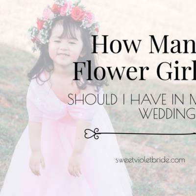 How Many Flower Girls Should I Have In My Wedding?