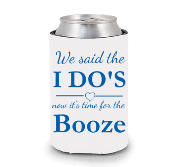 We Said the I Do's Wedding Koozie