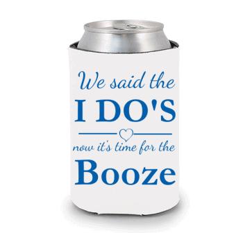 We Said the I Do's Wedding Koozie