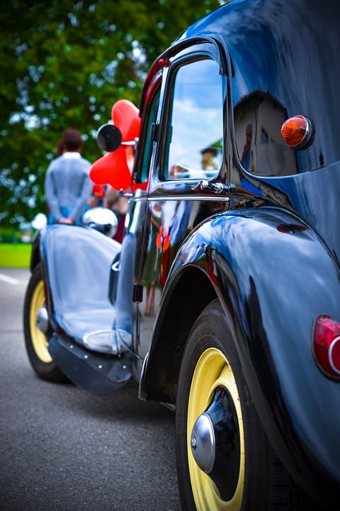 Wedding Car, Red Balloons, Retro Car, Rarity Car