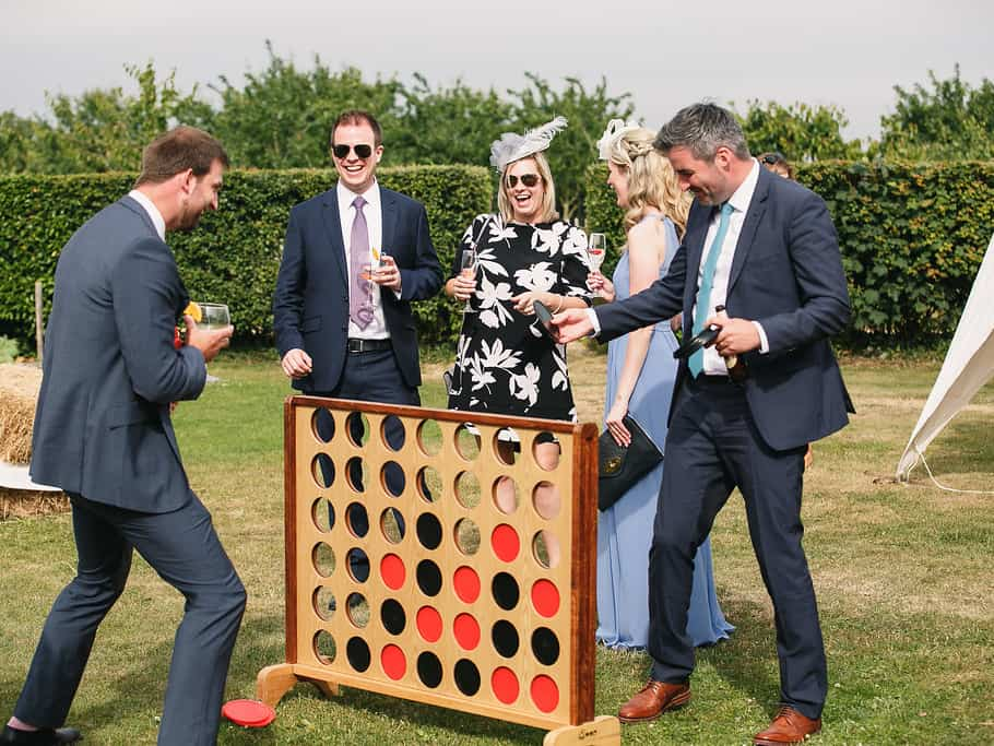 Giant connect four Styling a Barn Venue for Your Wedding Day