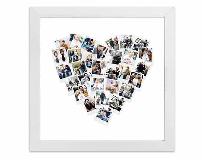Heart Snapshot Mix™ Photo Art in white frame